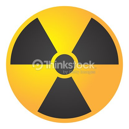 Vector Illustration Toxic Sign Symbol Warning Radioactive Zone