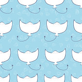 Cute stingray seamless pattern vector background