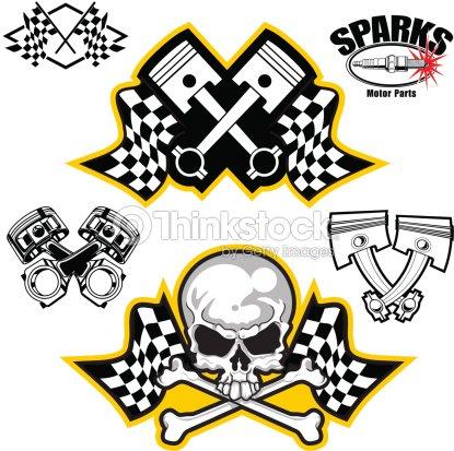 Vector Illustrations Of Car Racing Symbols Vector Art Thinkstock
