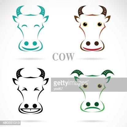 Vector de la imagen de una cara de vaca : Arte vectorial