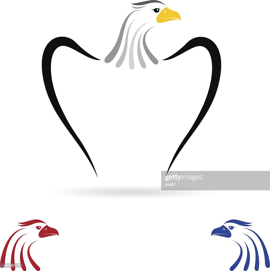 Vector de la imagen de un águila : Arte vectorial
