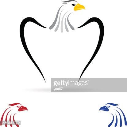 Vector image of an eagle : Vector Art