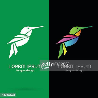 Vector image of an hummingbird design : Vector Art