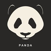 Vector image of Chinese Panda Bear. Cute bear snout.