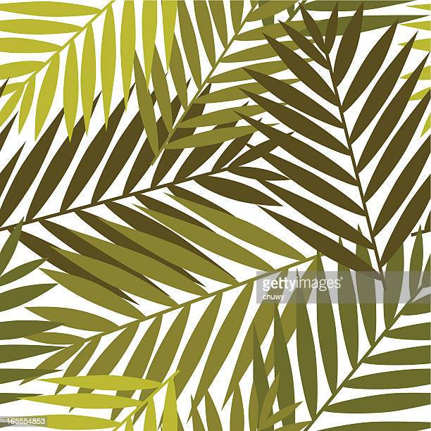 Vector image of various leaves on top of each other