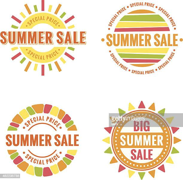 Vector images of summer sale icons