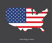 UNITED STATES OF AMERICA MAP, USA vector, Independence day background