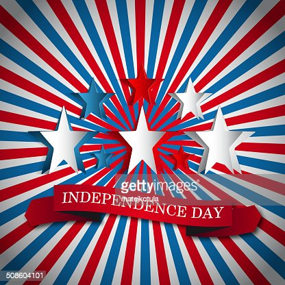 Vector independence day vintage badge, retro background poster : Vector Art