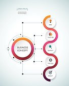 Vector infographic template with timeline 3D paper label, integrated circles. Business concept with options. For content, diagram, flowchart, steps, parts, timeline infographics, workflow layout, char
