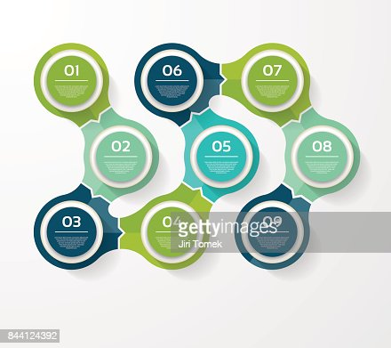 Vector infographic template for diagram, graph, presentation and chart. Business concept with 9 options, parts, steps or processes : stock vector