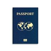 Vector international passport cover template
