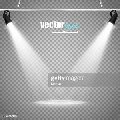 Vector Isolated Spotlight : stock vector