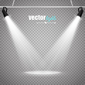 Abstract  Vector Spotlight isolated on transparent background. Light Effects.