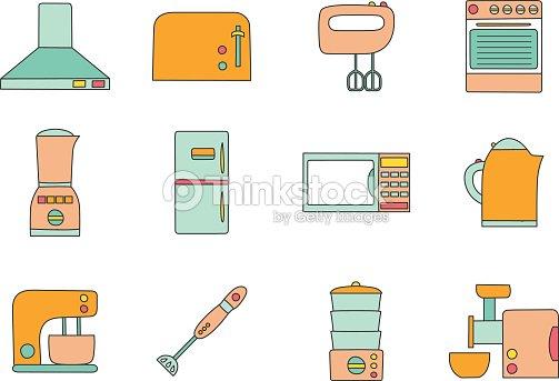 Vector Kitchen Appliances Icon Stock Vector Thinkstock