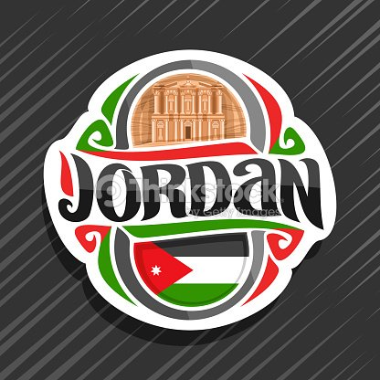 Vector Label For Jordan Country Vector Art Thinkstock