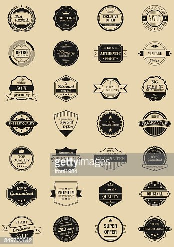 28 vector labels and logotypes. : Vector Art