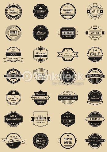 28 vector labels and logotypes. : stock vector