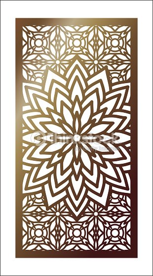 vector laser cut panel pattern template for decorative panel wall