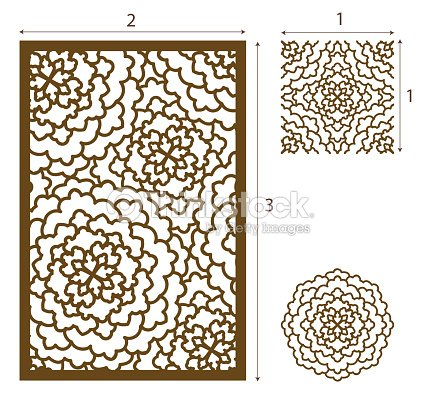 Vector Laser Cut Panel The Seamless Pattern For Decorative Panel And ...