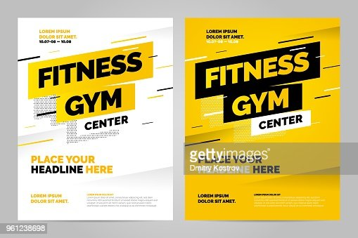 Vector layout design template for sport : Vector Art