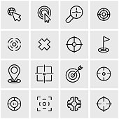 Vector line target icon set