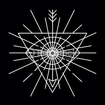 Vector Linear Emblem Abstract Hipster Logo Template Vector Art