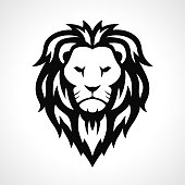 Vector lion icon design on white background
