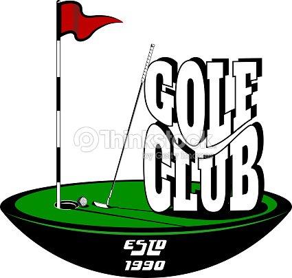 vektorlogo golfclub auf einem wei en hintergrund f r design verschiedene arten von druck und im. Black Bedroom Furniture Sets. Home Design Ideas