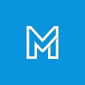 Modern Vector Logo Letter M. M Letter Design Vector
