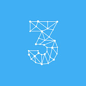 Modern Vector Logo Number 3. 3 Number Design Vector