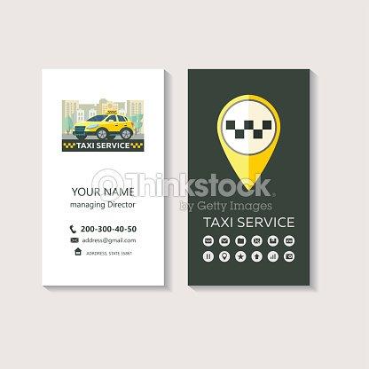 Logo Vectoriel Du Service Taxi Identit Visuelle Carte De Visite