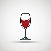 Vector logo wineglass