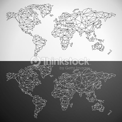Vector low poly world map outline vector art thinkstock vector low poly world map outline vector art gumiabroncs Images