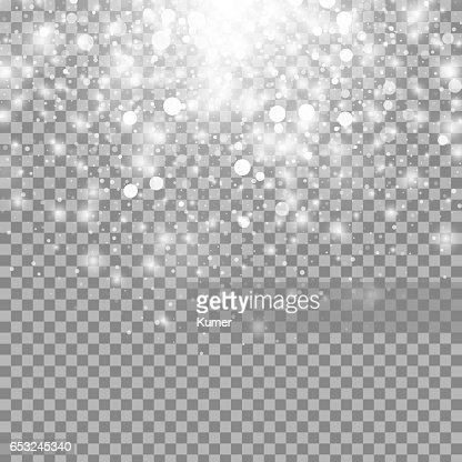 Vector magic white glow light effect : Vector Art