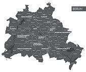 Vector map Berlin district