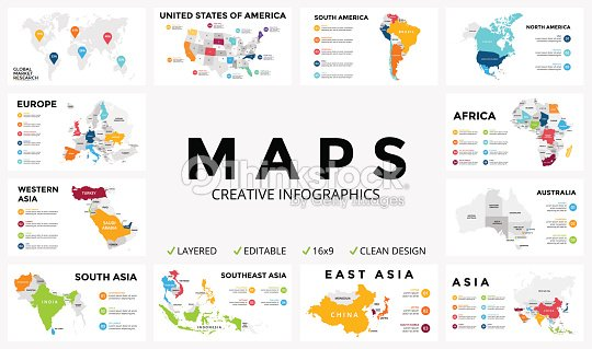 vector map infographic slide presentation global business marketing