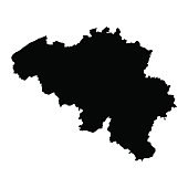 vector map of map of Belgium  with high details