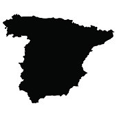 vector map of Spain with high details