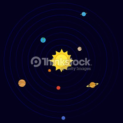 Vector Map Of The Solar System stock vector - Thinkstock