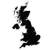 vectormap of map of United Kingdom  with high details