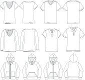 Various vector shirt templates for mock up.