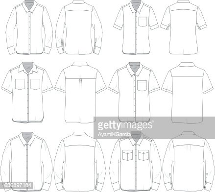 Vector Men and Women tee templates : stock vector
