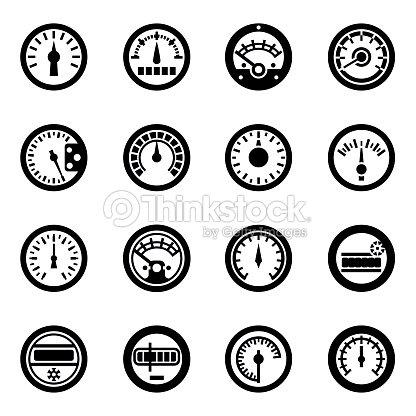 Vector Meter Icon Set Vector Art | Thinkstock
