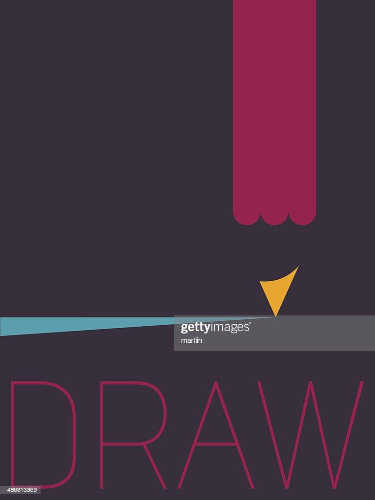 Vector minimal design draw vector art getty images for Minimal art vector