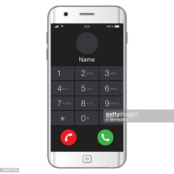 Vector mobile phone numbers