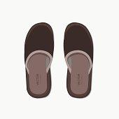 Vector modern flippers on gray bakground. Eps 10