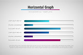 Vector modern infographic template with colorful progress bars