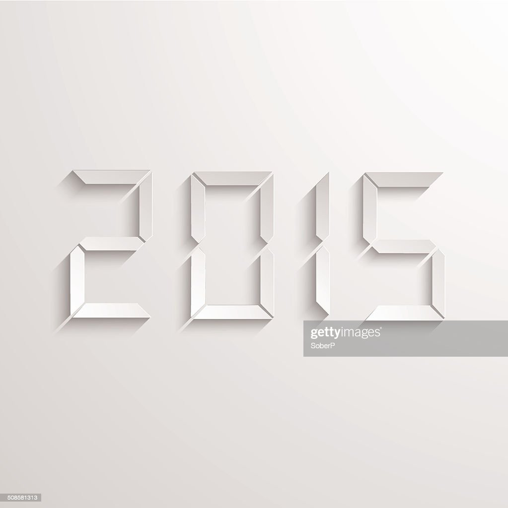 Vector modern new year 2015 background. : Vector Art