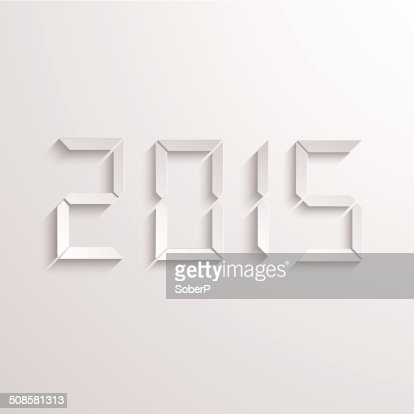 Vector modern new year 2015 background. : Vectorkunst