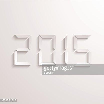 Vector modern new year 2015 background. : Vector Art